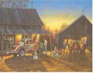 "12 x 15 Metal Sign ""Hadley Tractor: Saturday Night"""