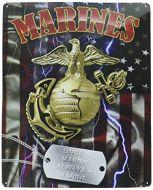 "12 x 15 Metal Sign ""Marine Dog Tag"""