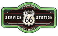 """LED Light Up Sign """"Route 66 Marque"""""""