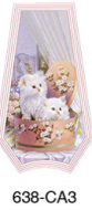 White Kittens Touch Lamp Glass
